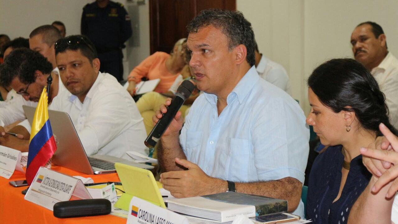 Víctor Alfonso Bautista Olarte. Foto: Prensa Cancillería.