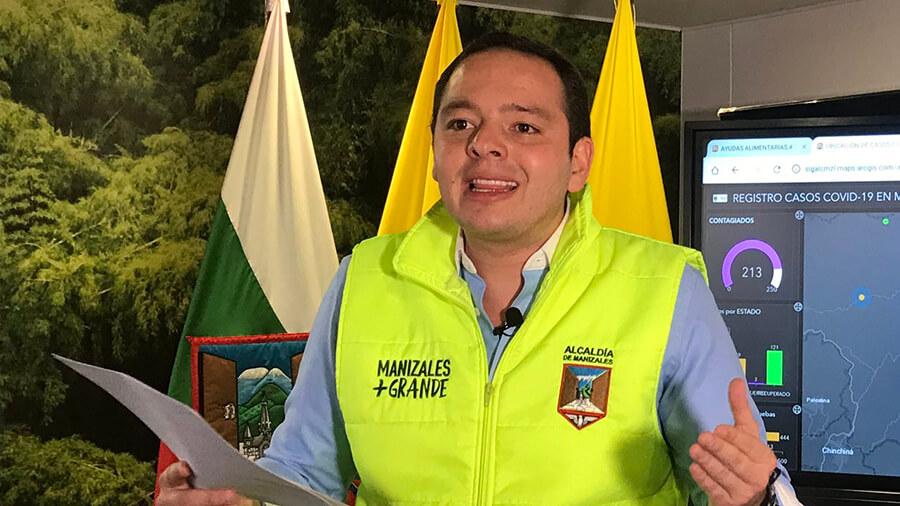 Carlos Mario Marín Correa. Foto: @Alcalde_Verde en Twitter