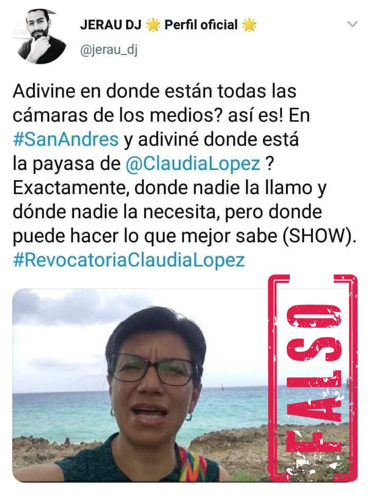 Claudia López en San Andrés