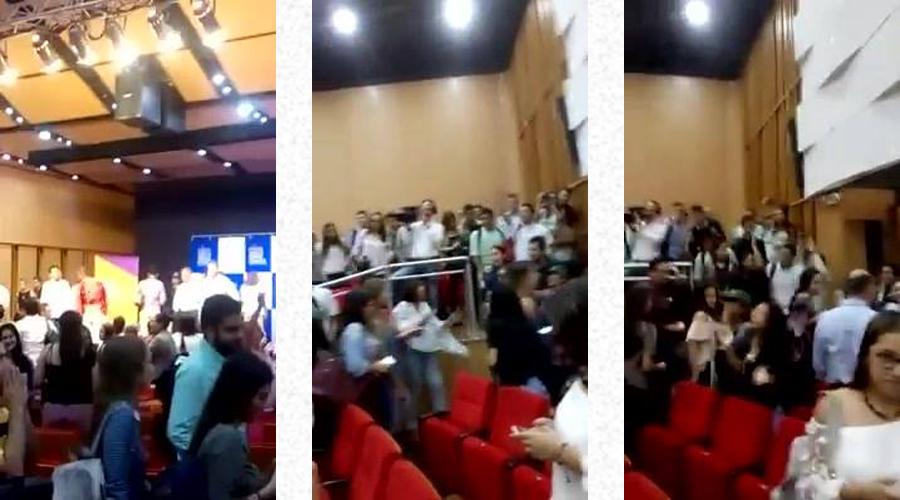 Tres fotogramas tomados del video publicado en Facebook