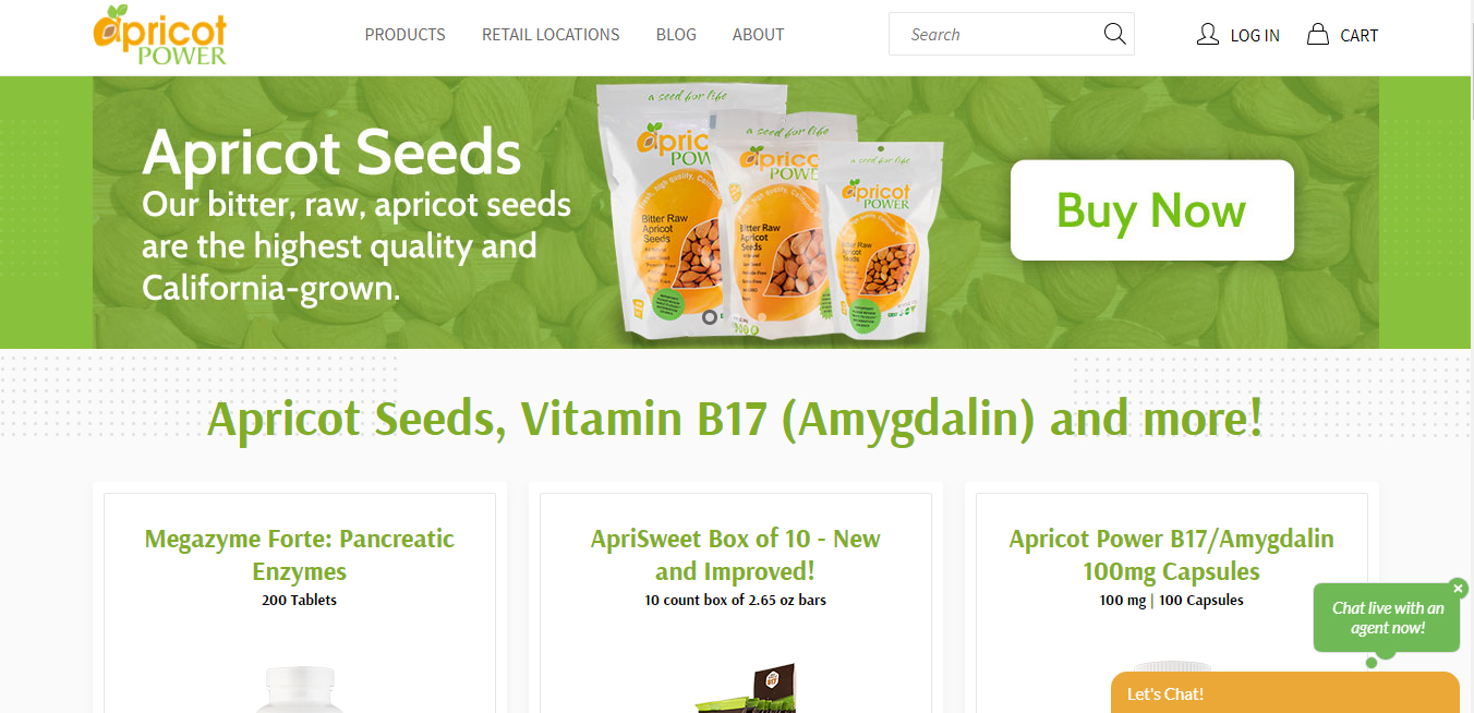 Captura de pantalla de la tienda virtual de Richardson