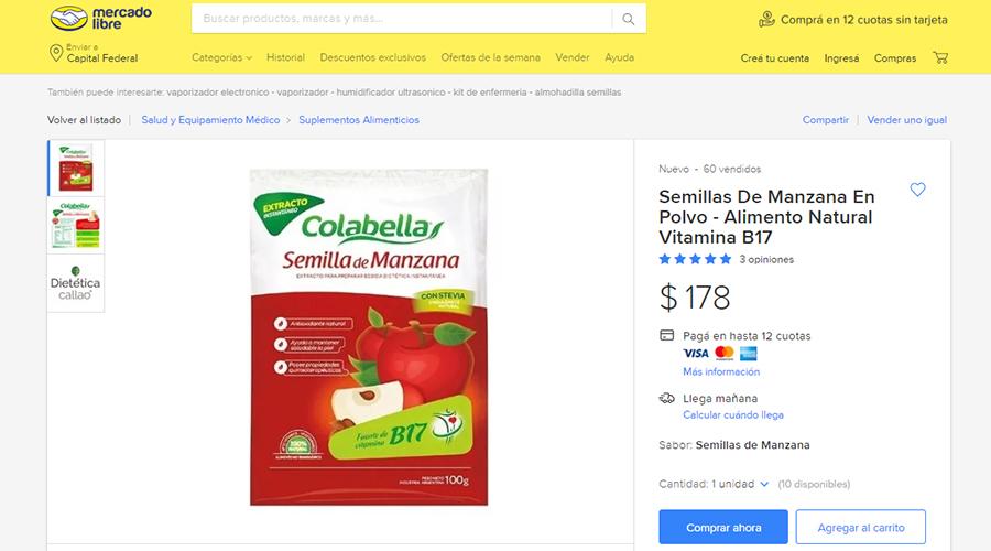 Venta de falsa vitamina en Argentina