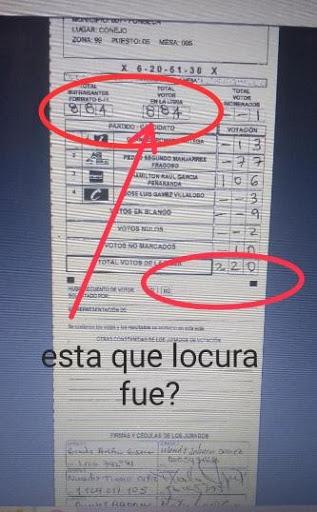Denuncia sobre E-14 para la Alcaldía de Fonseca, La Guajira