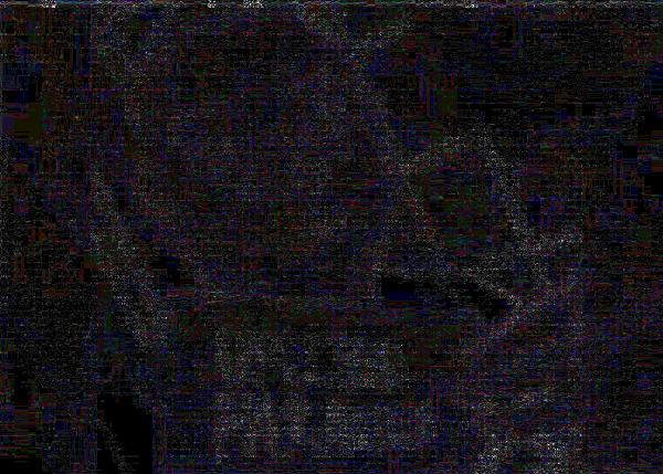 Análisis de nivel de error de FotoForensics a meme de Miguel Polo Polo