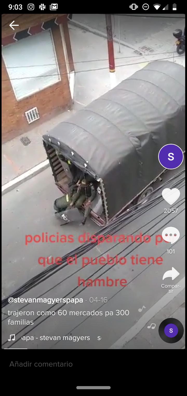 Video con queja sobre mercados insuficientes en Ciudad Bolívar