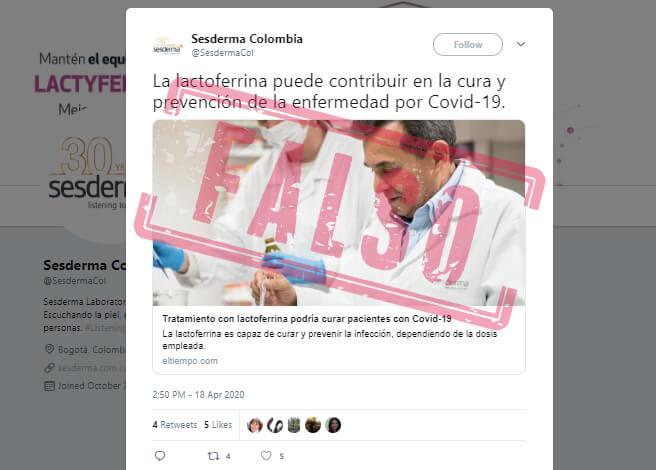 Trino de Sesderma Colombia con publirreportaje de El Tiempo