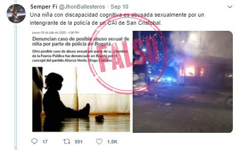Trino 'antes y después' de las protestas sobre supuesto CAI San Cristóbal