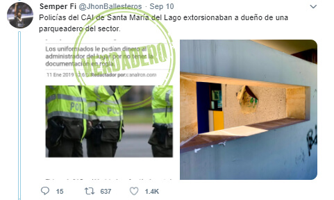 Trino 'antes y después' de las protestas sobre el CAI Santa María del Lago en Engativá