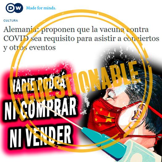 Meme sobre exigencia de vacuna para conciertos, compras y ventas