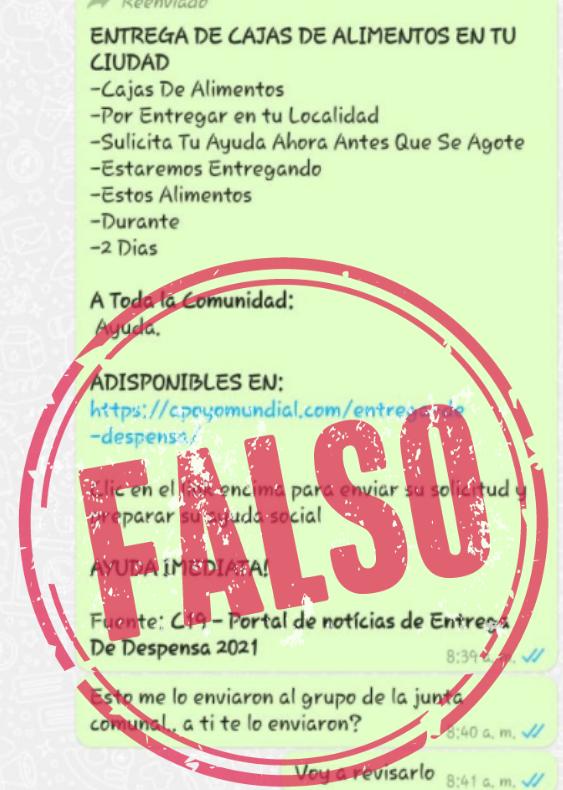 Cadena_entrega_caja_alimentaria_falsa