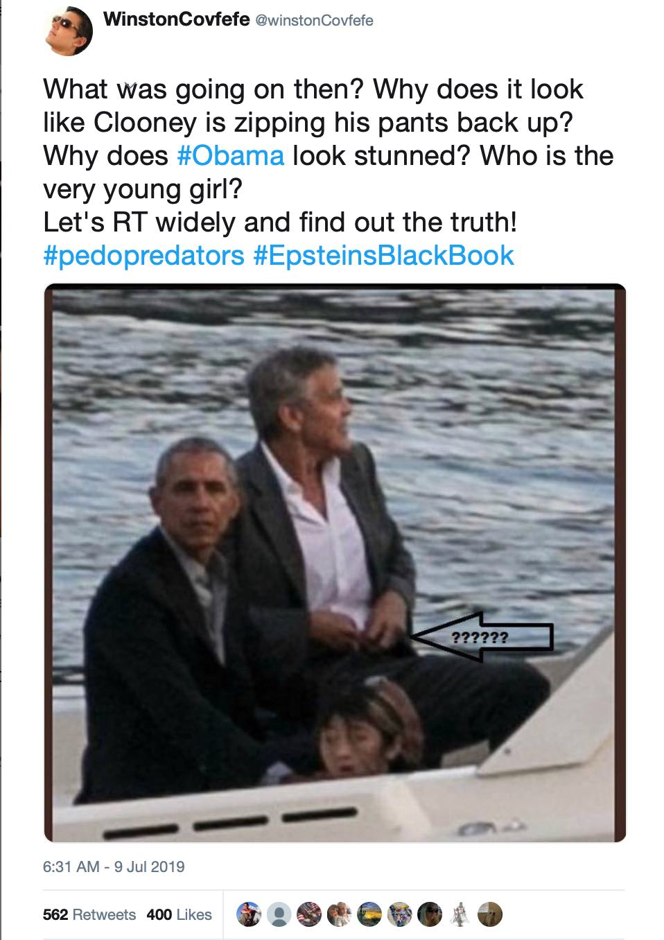 Trino sobre Obama y Clooney