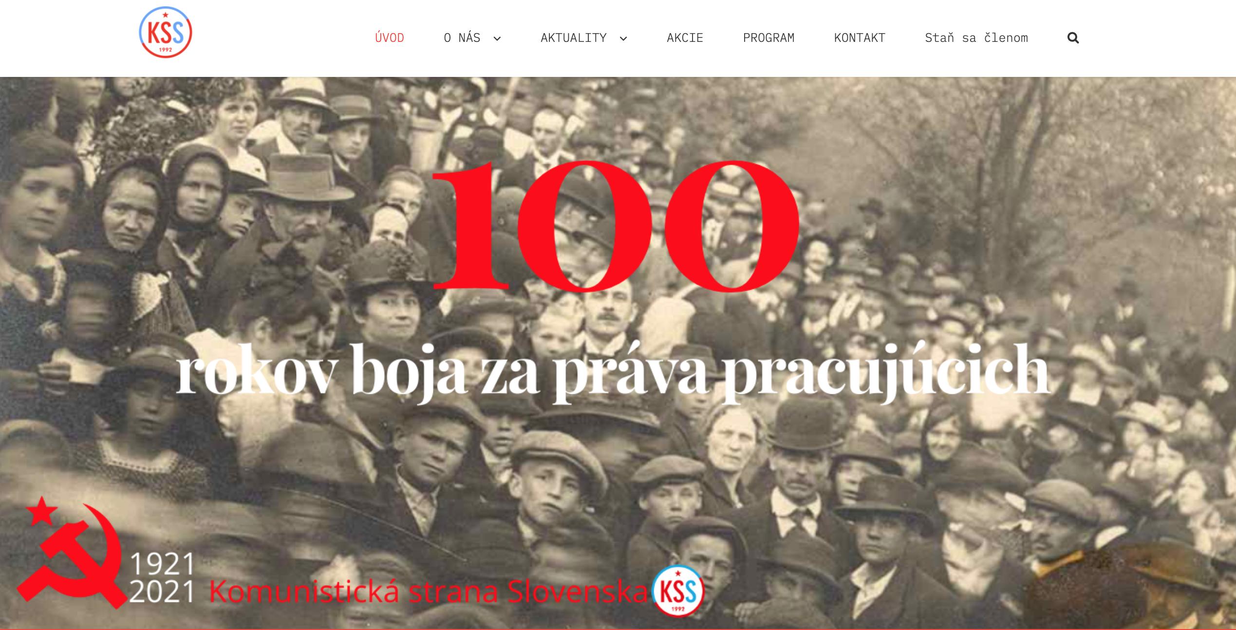 Pagina_web_partido_comunista_Eslovaquia