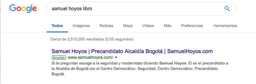 Captura de pantalla google