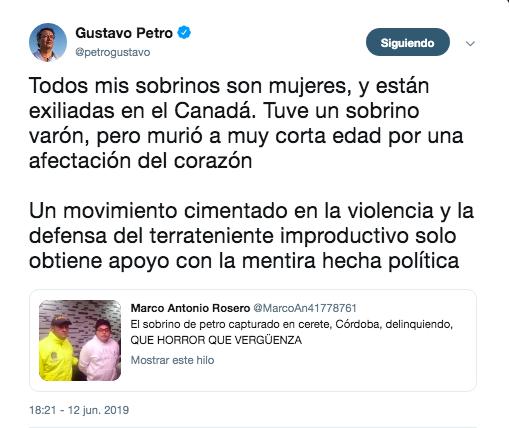 Trino de Gustavo Petro, senador