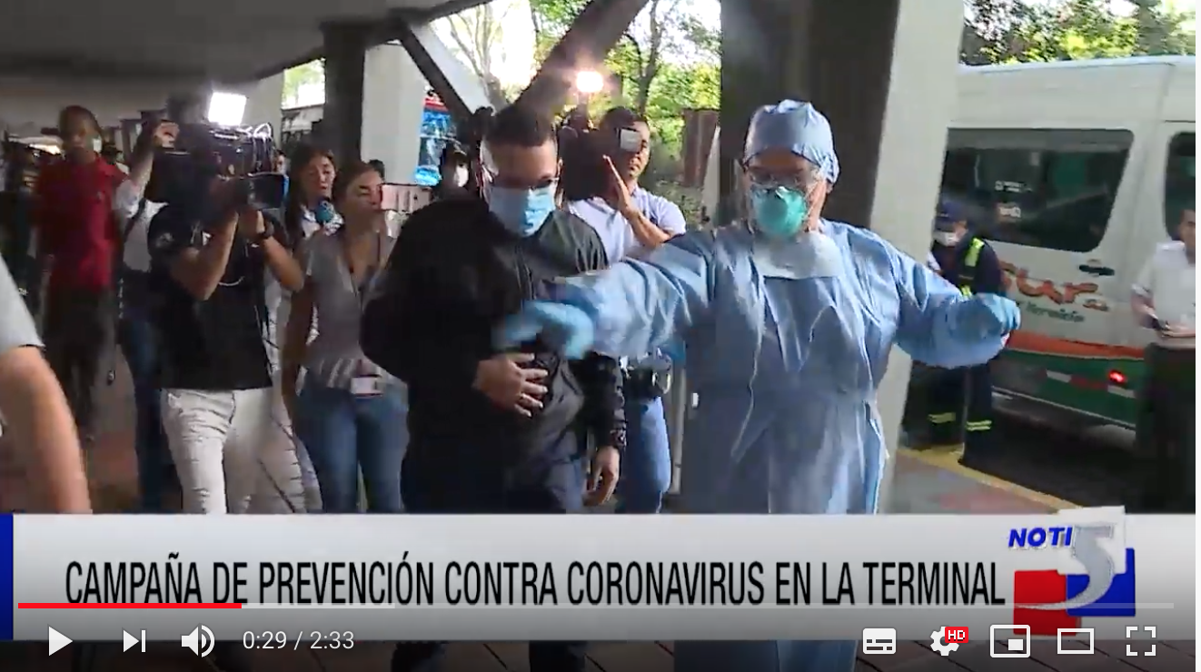 Foto de Noti5 de simulacro para prevenir casos de coronavirus en la Terminal de Cali