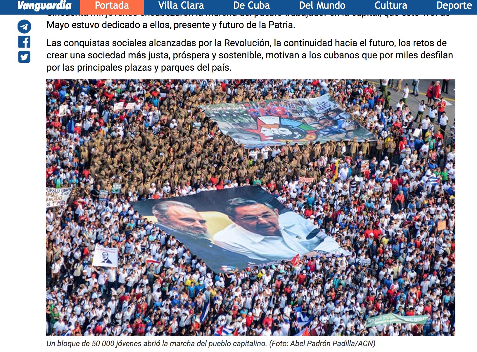 foto de marcha en Cuba