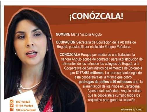 Imagen viral sobre María Victoria Angulo