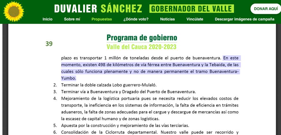 Propuestas Duvalier Sánchez