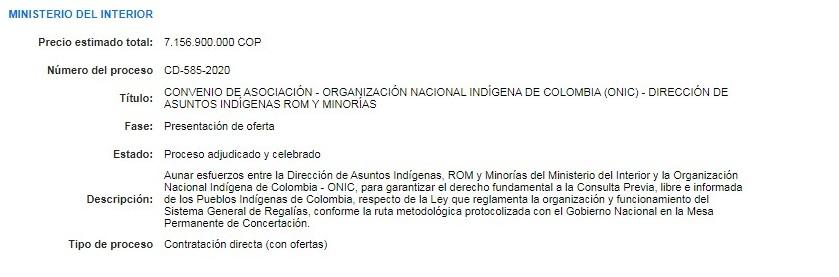 Ejemplo contrato ONIC MinInterior Gobierno de Duque