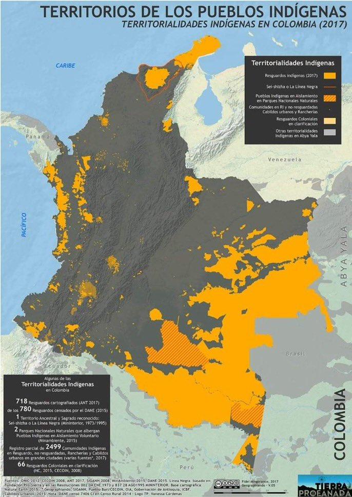 Mapa territorialidades indígenas
