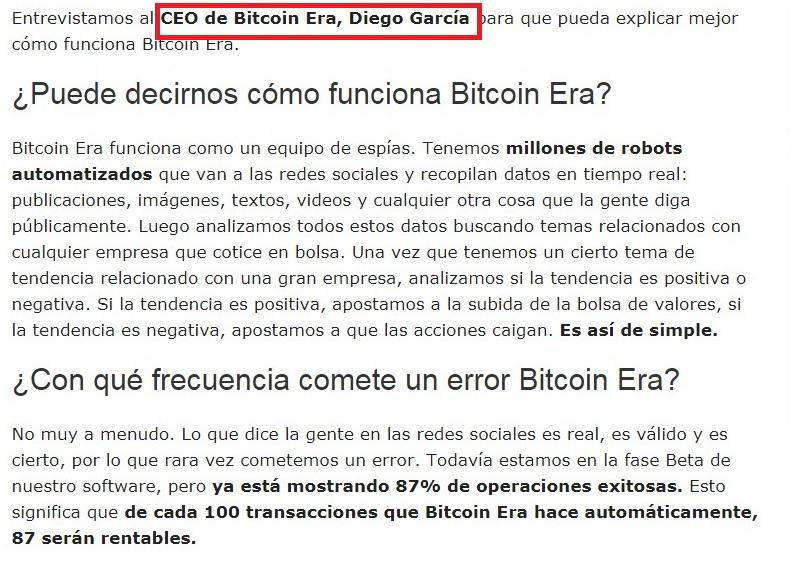 Estafa Bitcoin Era