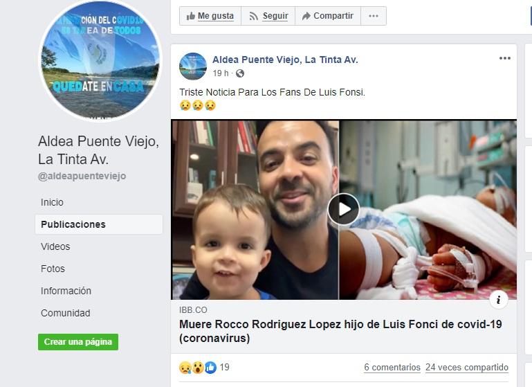 El Hijo De Luis Fonsi No Murió De Coronavirus Colombiacheck