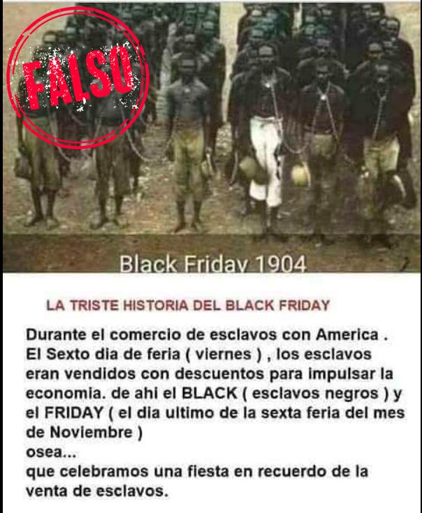 Falsa historia del Black Friday