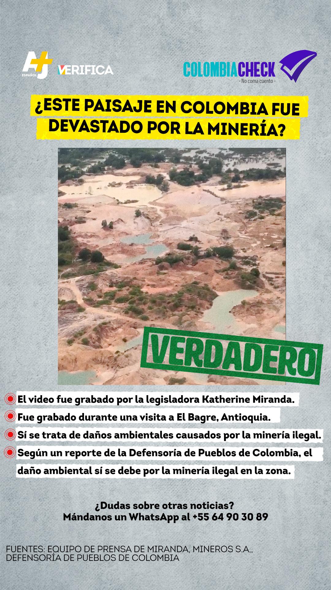 Chequeo infografía sobre contaminación por minería en Antioquia
