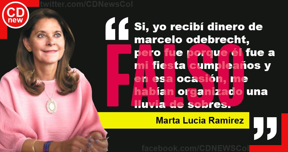 Cita falsa de Marta Lucía Ramírez