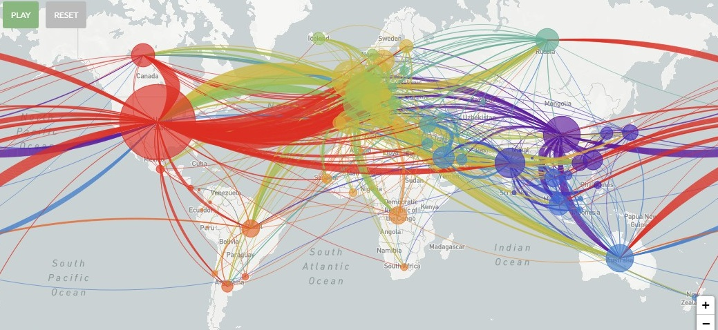 Mapa mutación nuevo coronavirus