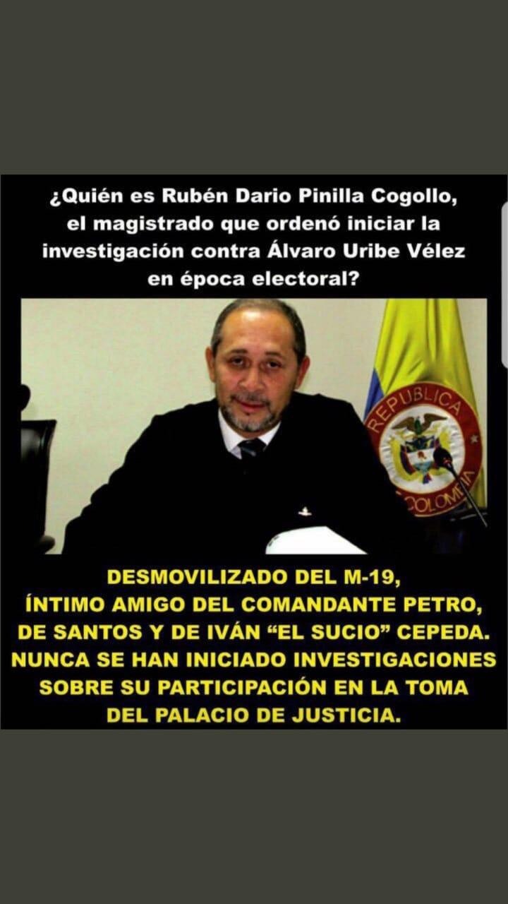 Publicación falsa sobre magistrado Pinilla