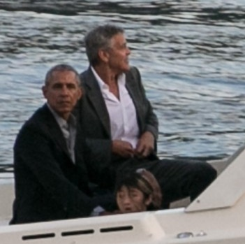 Obama y Clooney