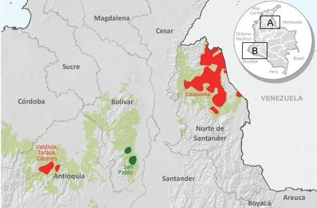 Pantallazo enclaves de coca2 UNODC 2019