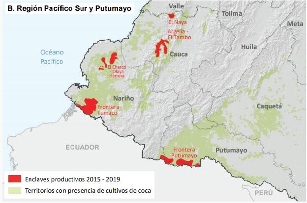 Pantallazo enclaves de coca3 UNODC2019