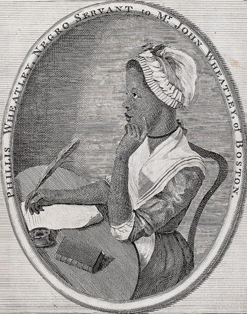 Verdadero retrato de Phillis Wheatley, ilustración de Scipio Moorhead