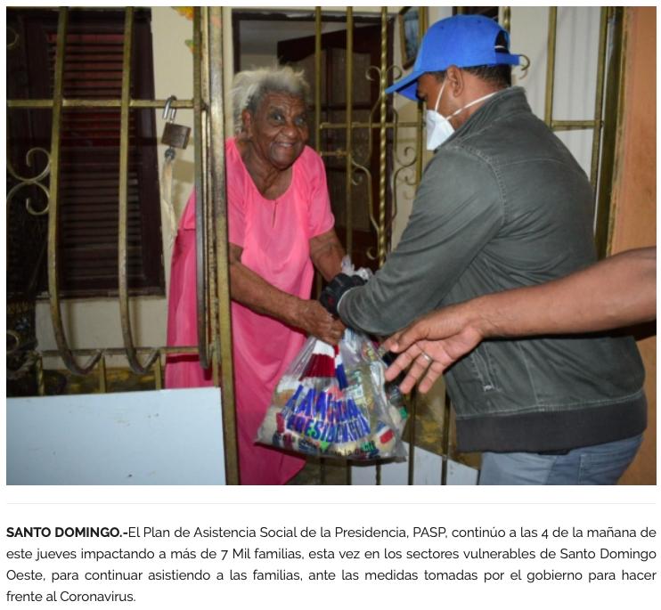 Bolsa del plan social del gobierno dominicano