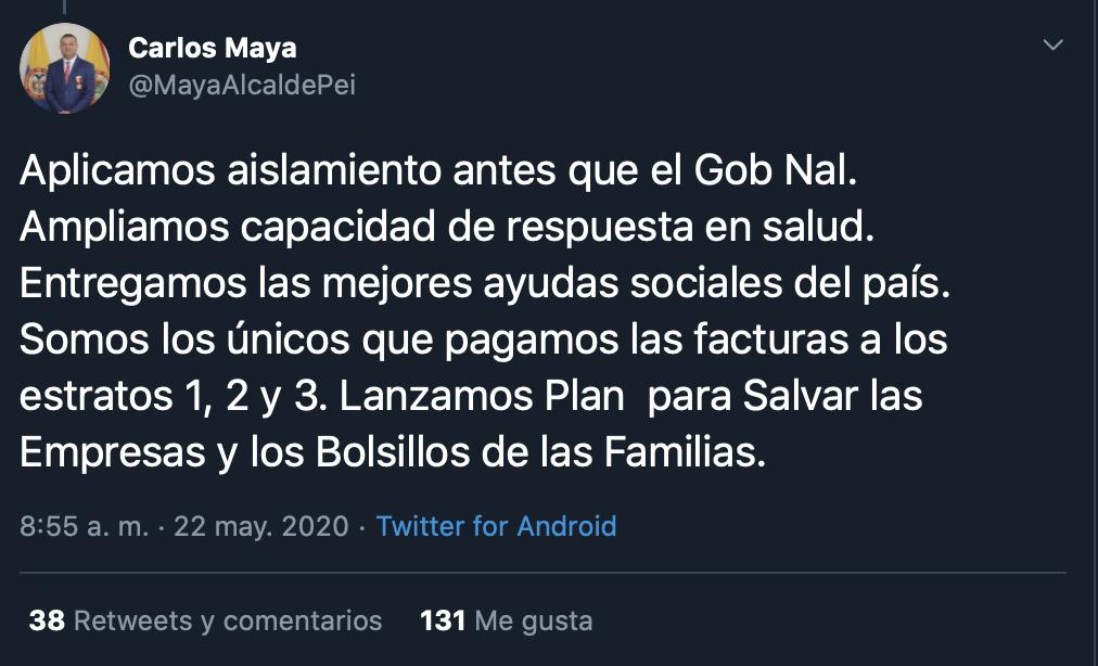 Trino de alcalde de Pereira