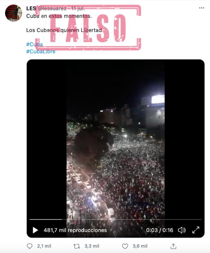 Protesta_Cuba_Falso