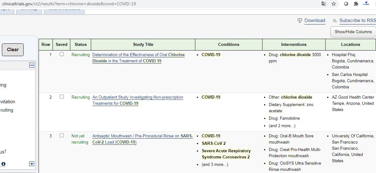 búsqueda en clinical trials
