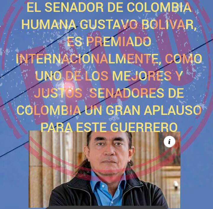 Gustavo Bolívar premio mejor senador