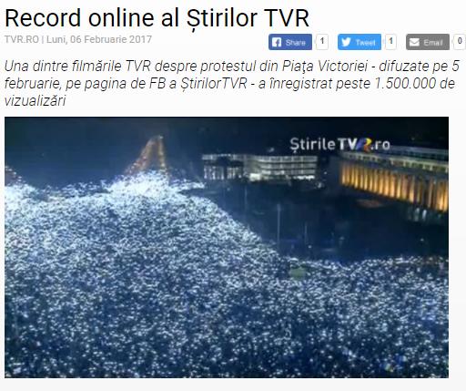 Captura de pantalla TVR 2017