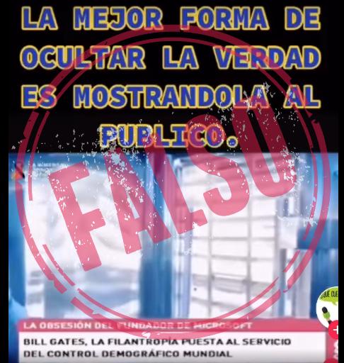 captura de pantalla video falso