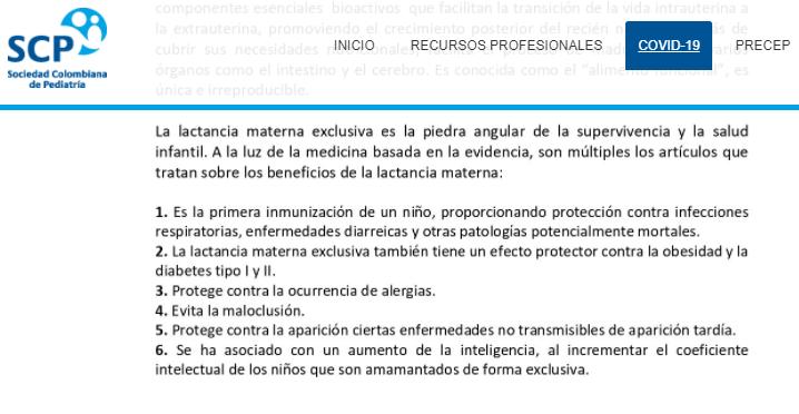 Comunicado de Sociedad Colombiana de Pediatría