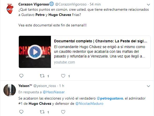 Publicación fuera de contexto sobre relación entre Petro y Chávez