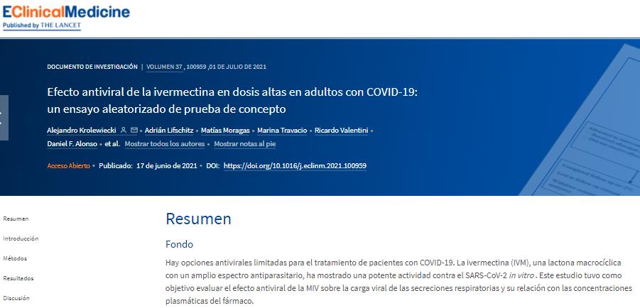 Estudio Ivermectina E Clinical Medicine