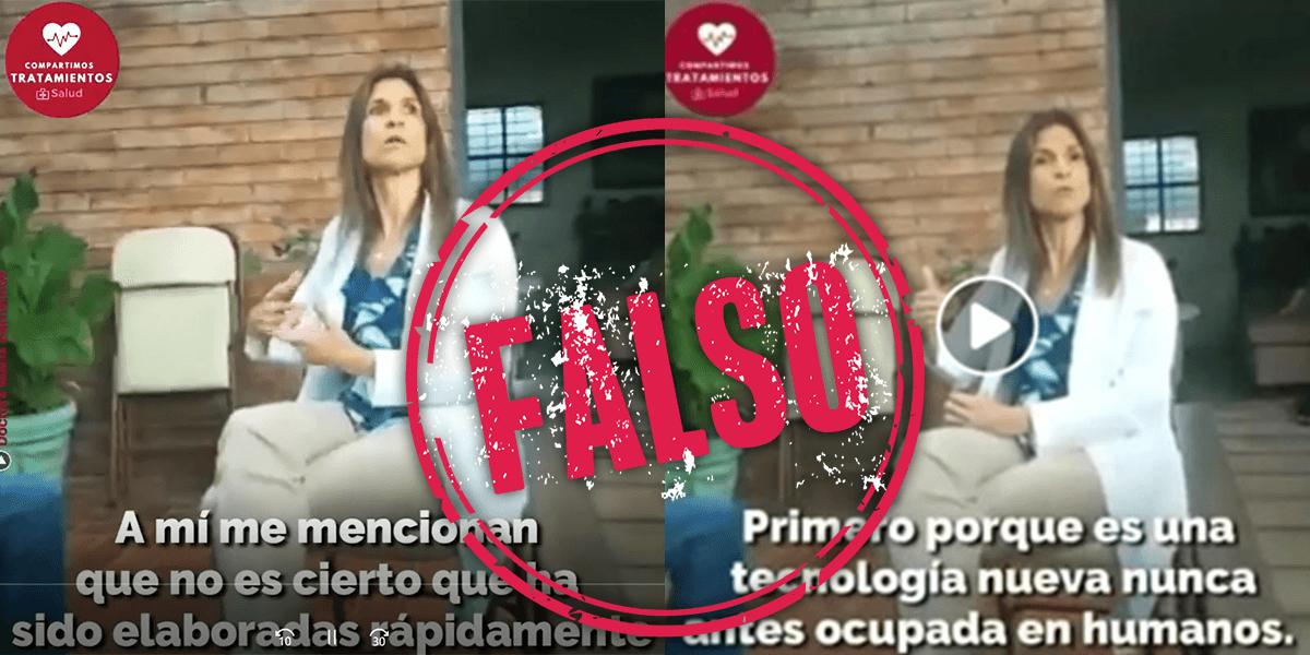 Dra Barrientos etiqueta falso