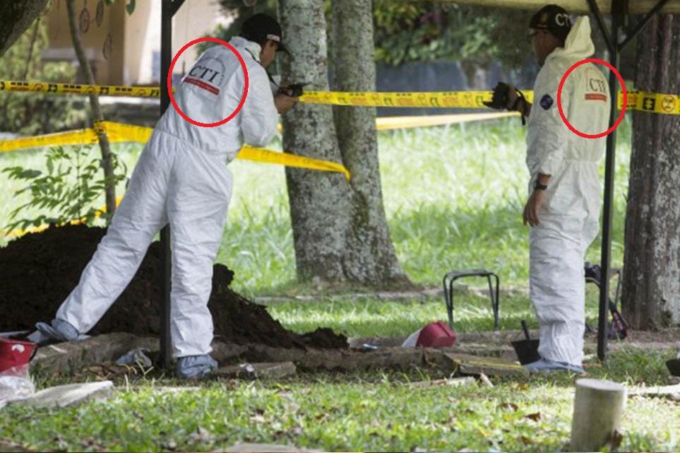exhumación CTI- Colombia
