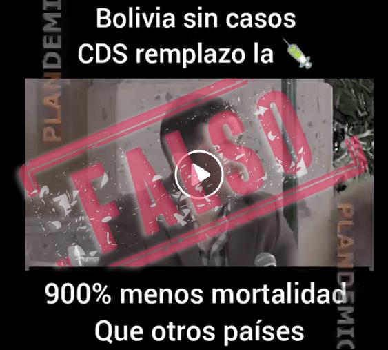 pantallazo del video etiqueta falso