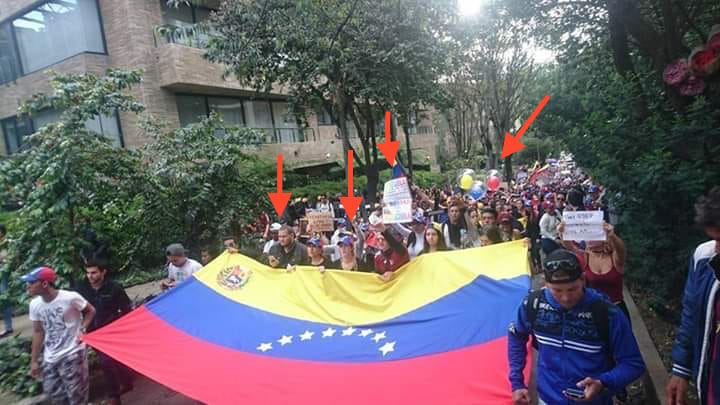foto venezolanos en marcha en Bogotá 2