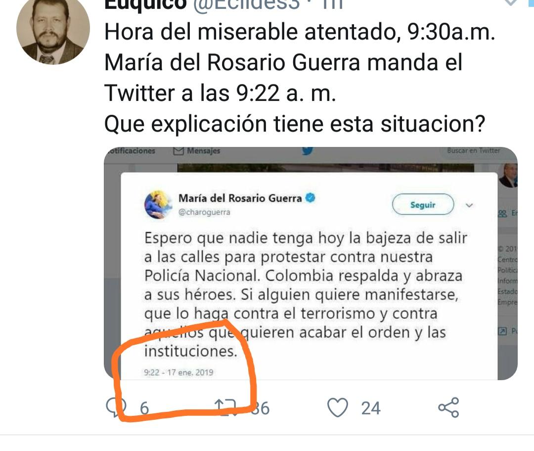 Un usuario de Twitter creyó que Guerra había publicado a las 9:22